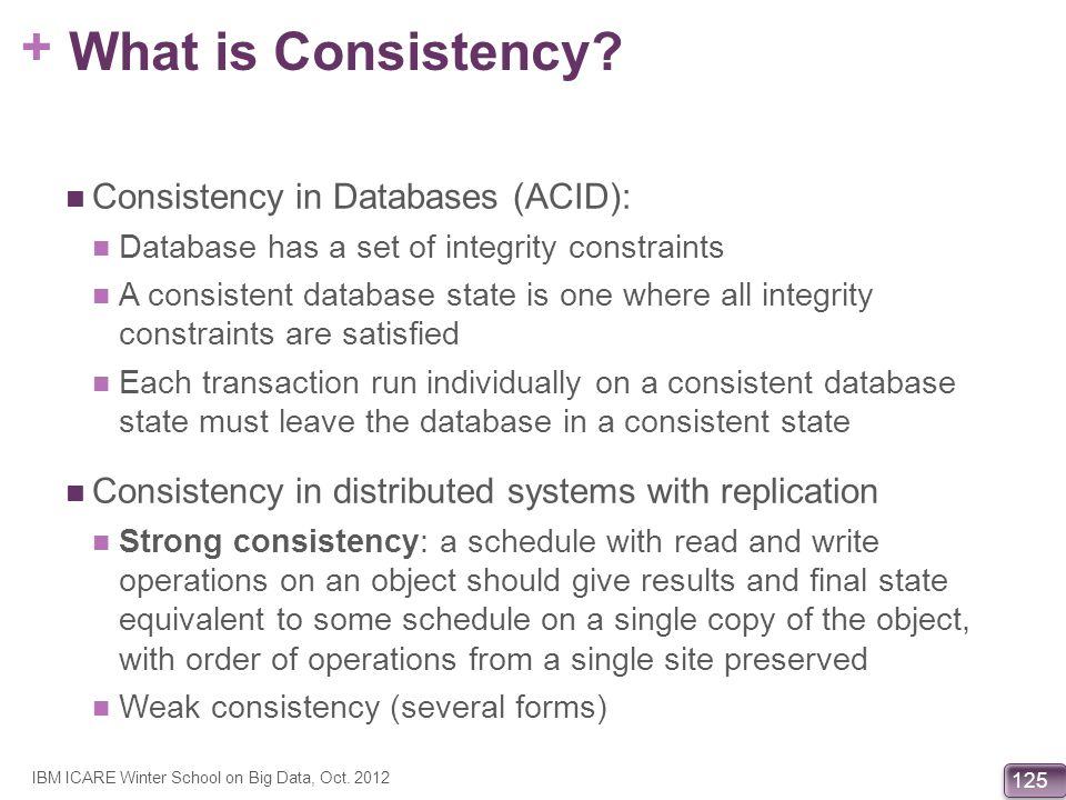 What is Consistency Consistency in Databases (ACID):