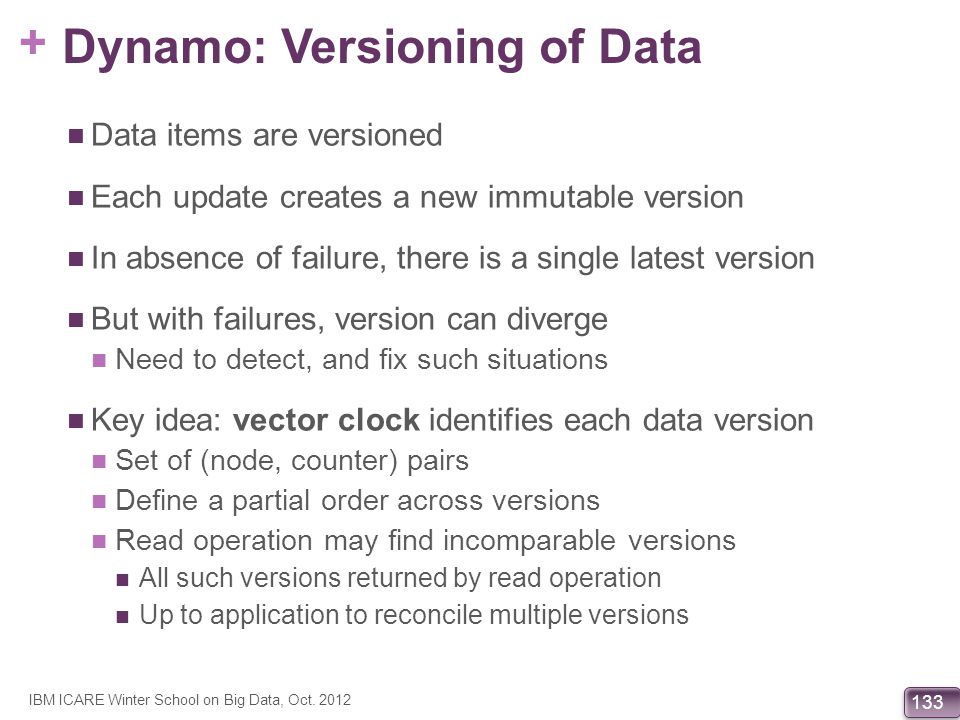 Dynamo: Versioning of Data