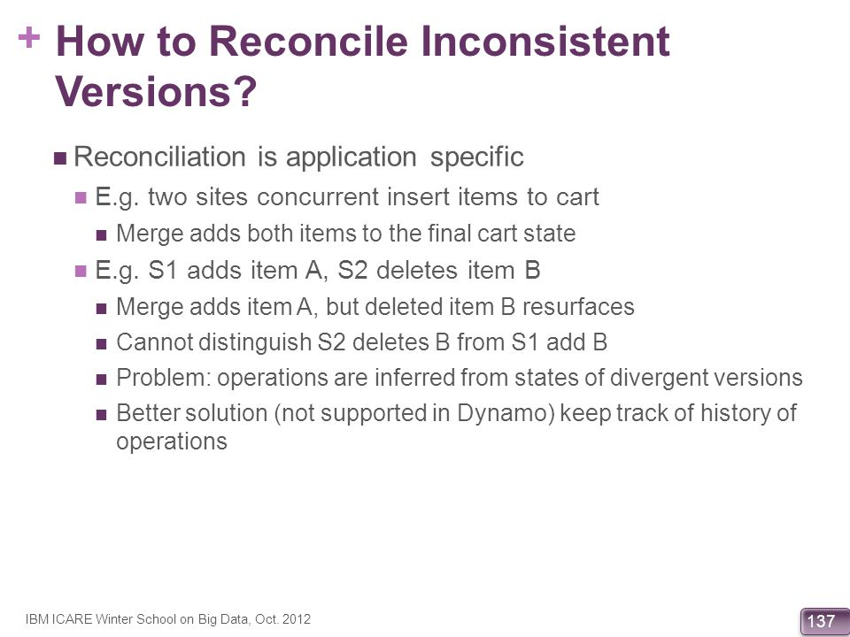 How to Reconcile Inconsistent Versions