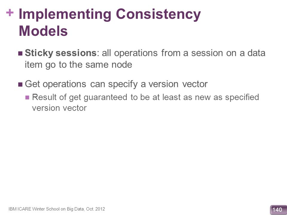 Implementing Consistency Models