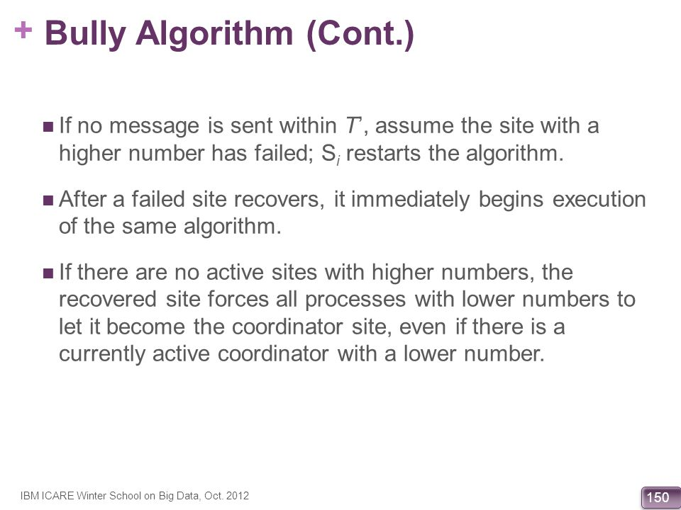 Bully Algorithm (Cont.)
