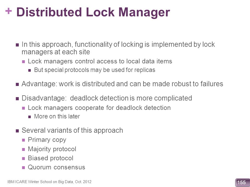 Distributed Lock Manager