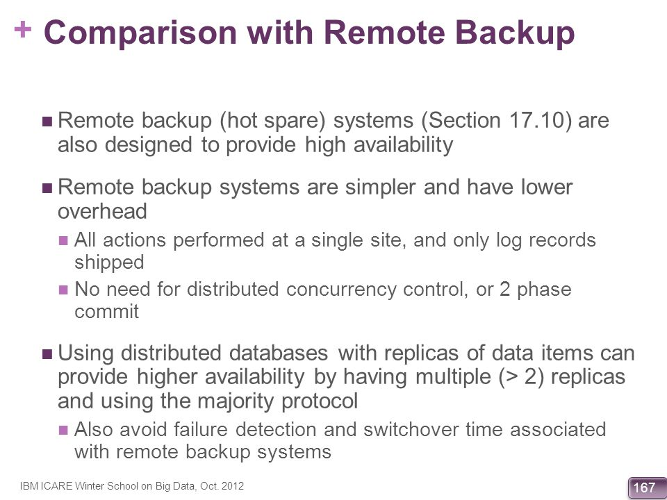 Comparison with Remote Backup
