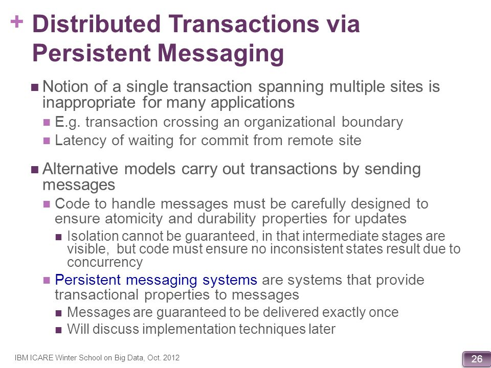 Distributed Transactions via Persistent Messaging