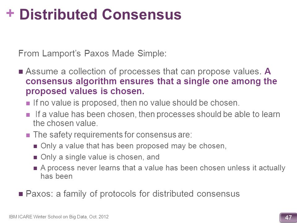Distributed Consensus