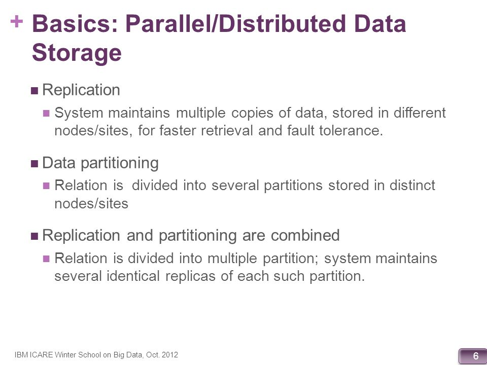 Basics: Parallel/Distributed Data Storage