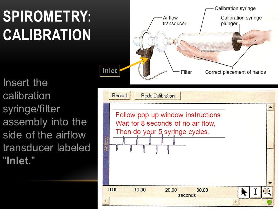 Spirometry: Calibration