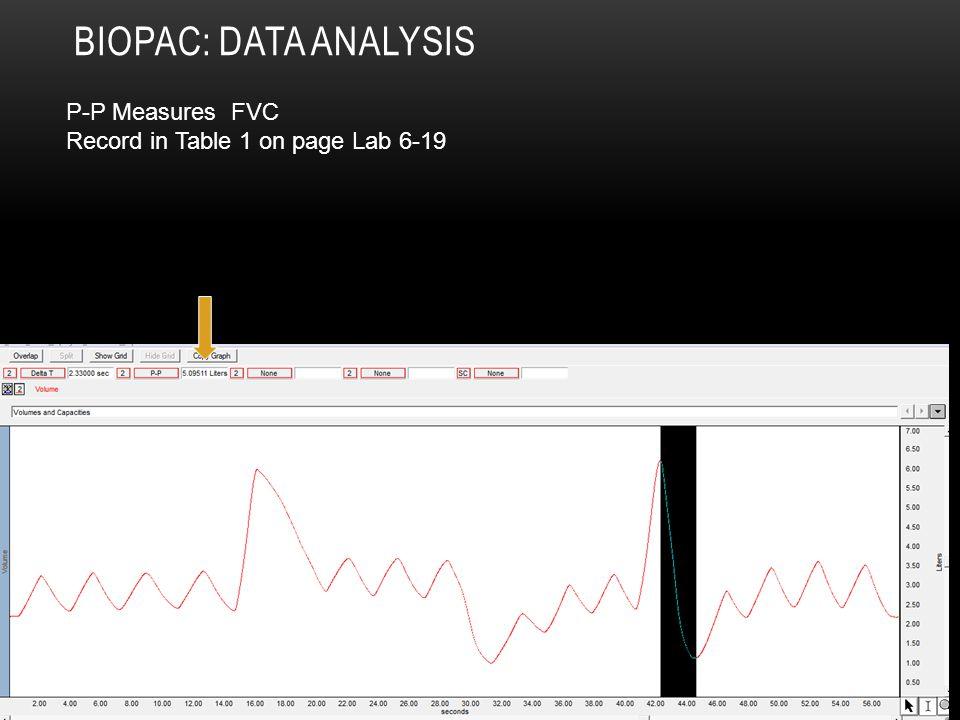 Biopac: Data Analysis P-P Measures FVC