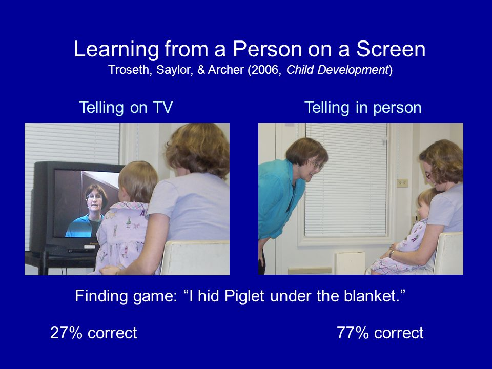 Learning from a Person on a Screen