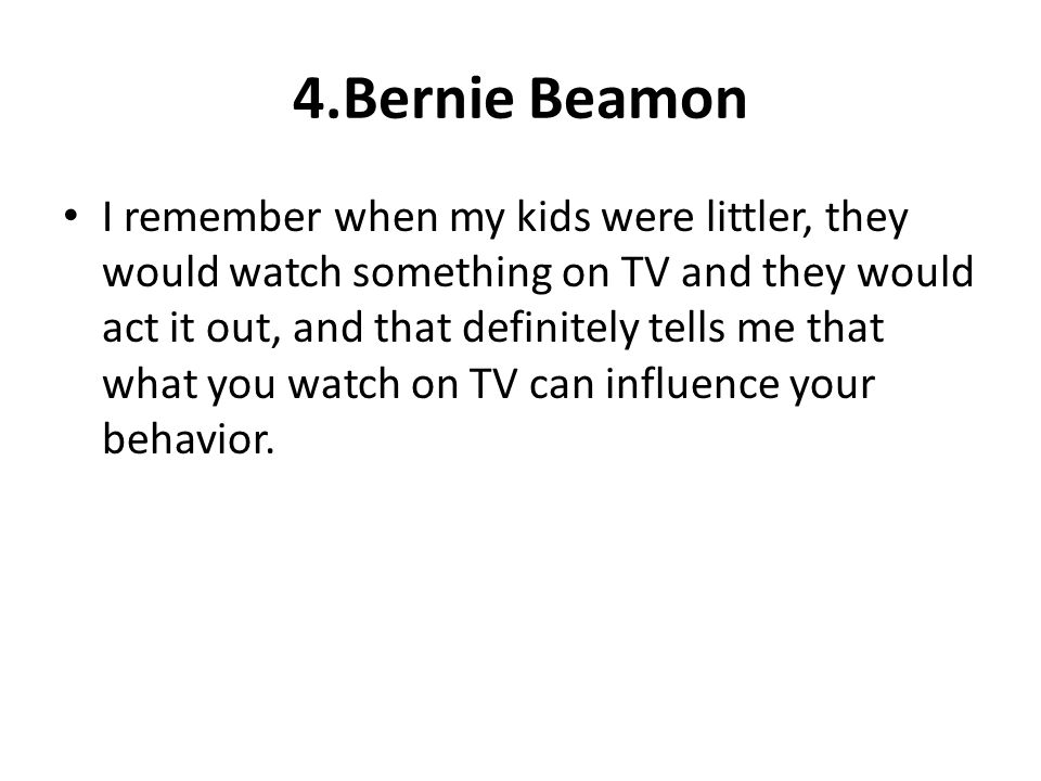 4.Bernie Beamon