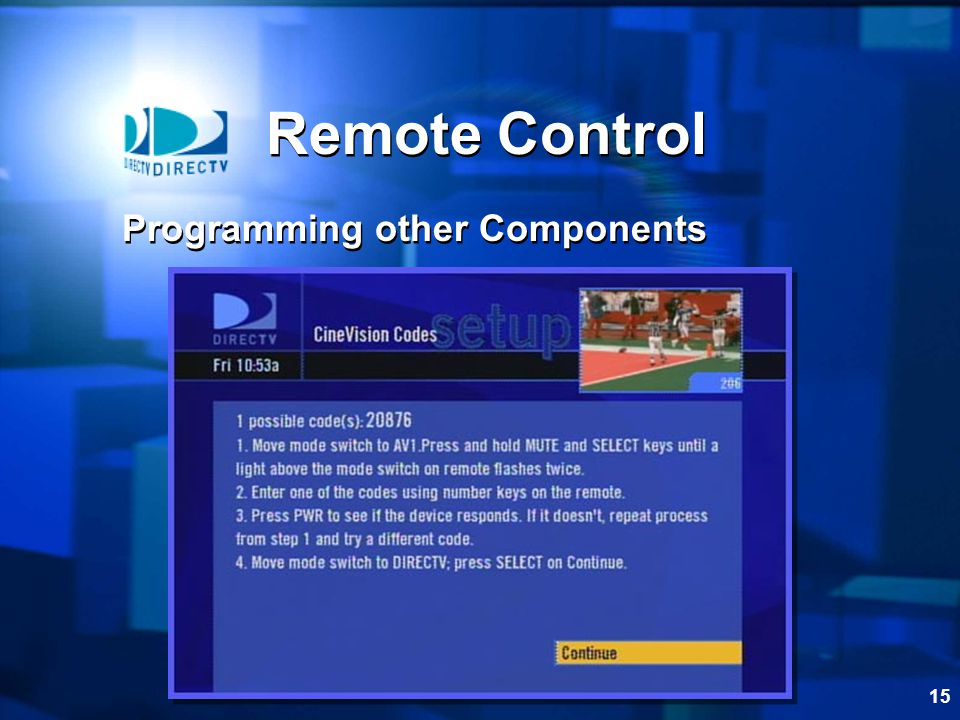 Remote Control Programming other Components