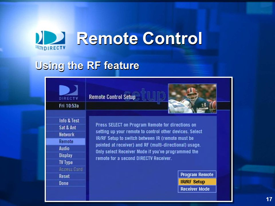 Remote Control Using the RF feature