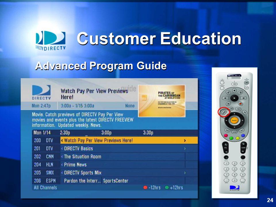 Customer Education Advanced Program Guide
