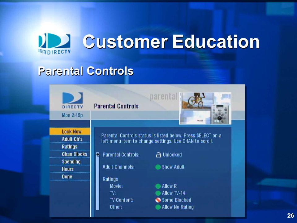 Customer Education Parental Controls