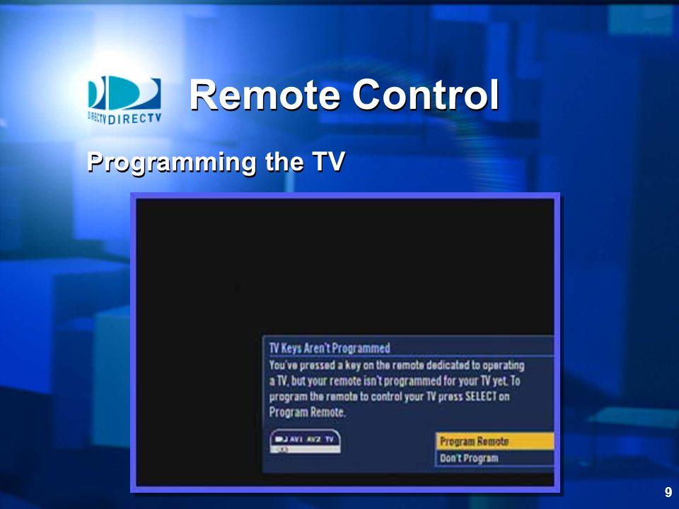 Remote Control Programming the TV
