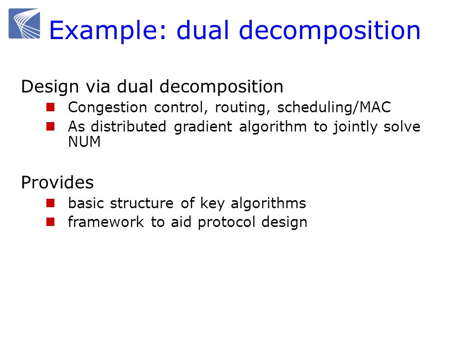 Example: dual decomposition