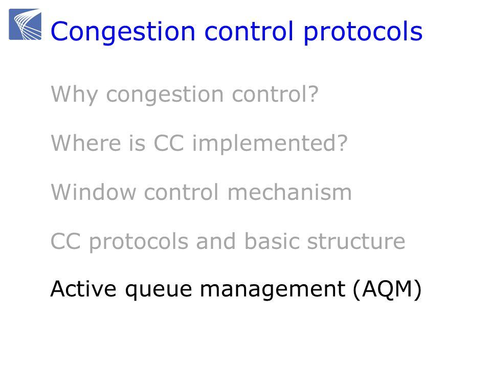 Congestion control protocols