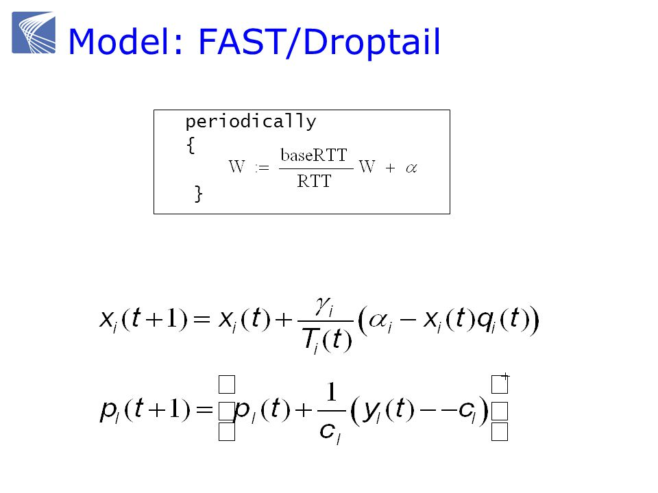 Model: FAST/Droptail periodically { }