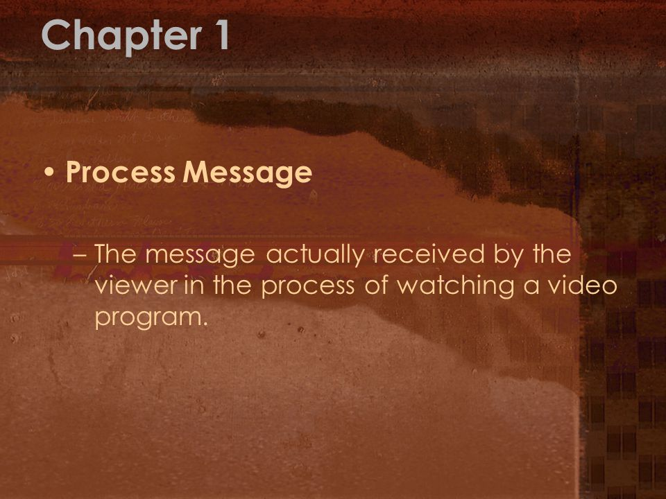 Chapter 1 Process Message