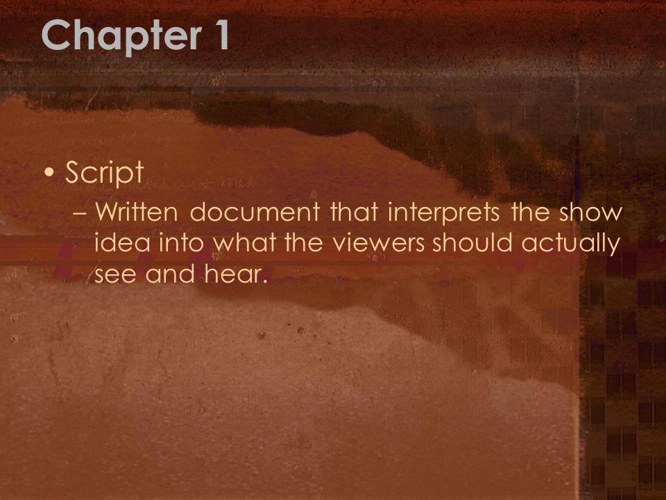 Chapter 1 Script.