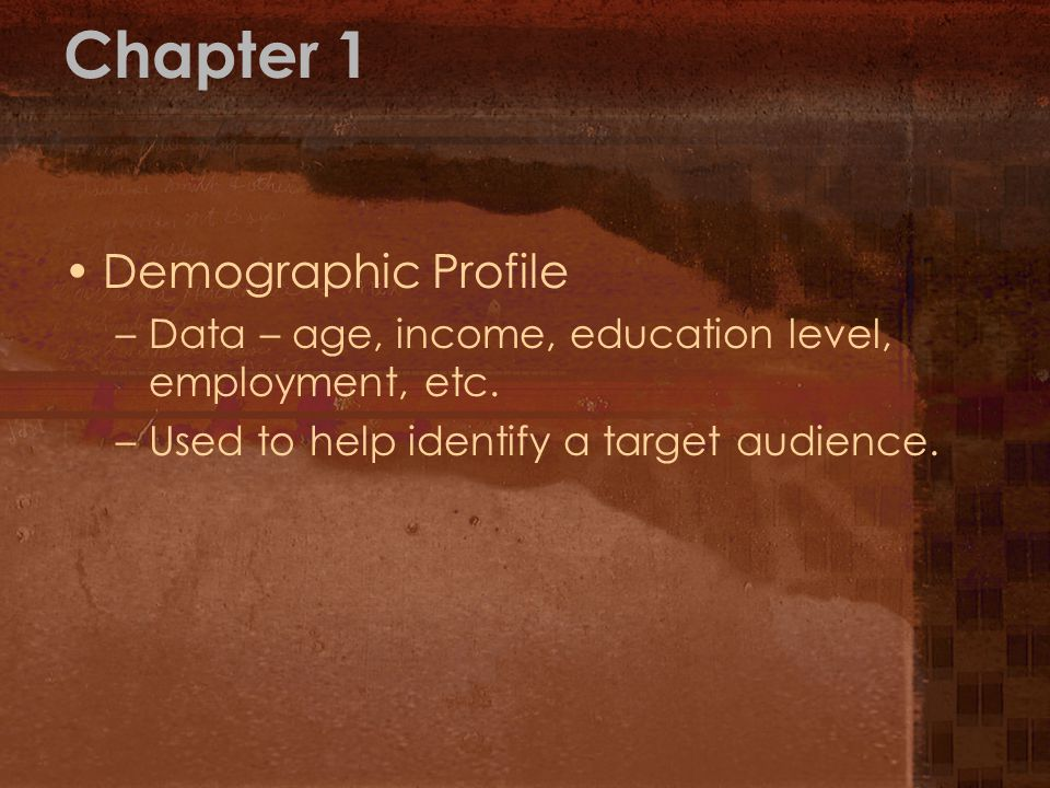 Chapter 1 Demographic Profile