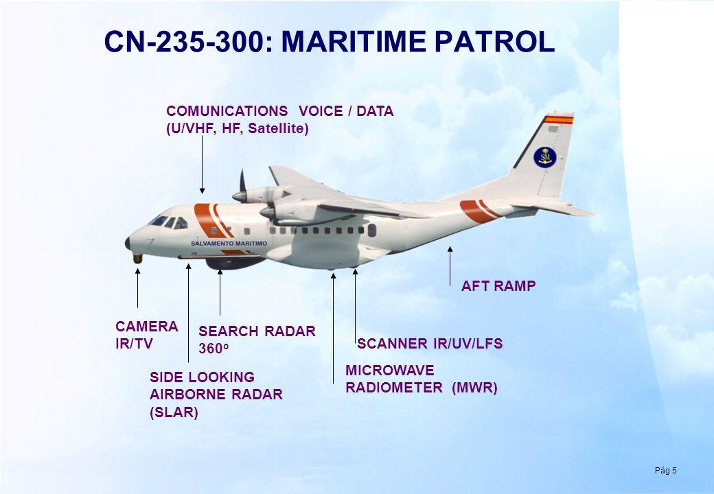 CN-235-300: CABIN LAYOUT CREW 2 PILOTS 2 TACTIC OPERATORS 1 OBSERVER