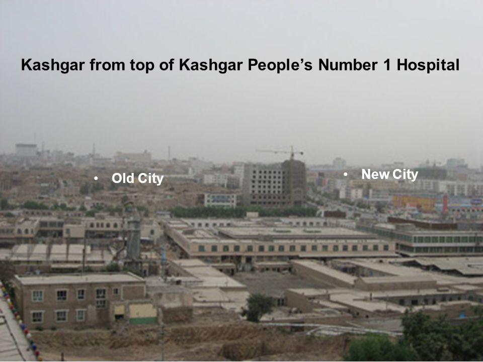 Kashgar from top of Kashgar People's Number 1 Hospital