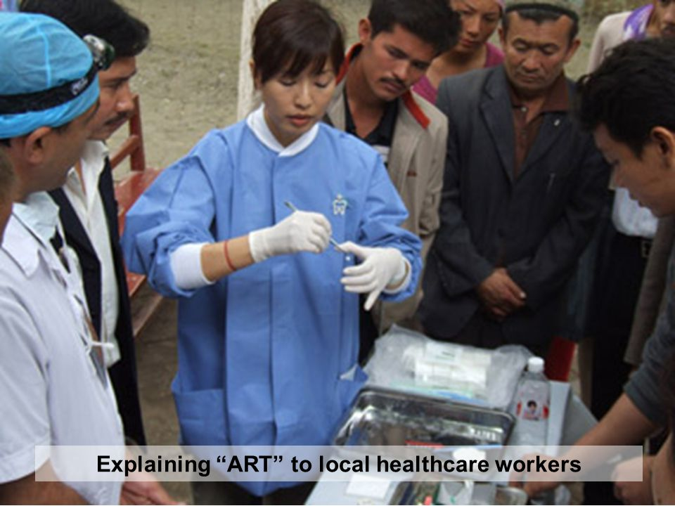 Explaining ART to local healthcare workers
