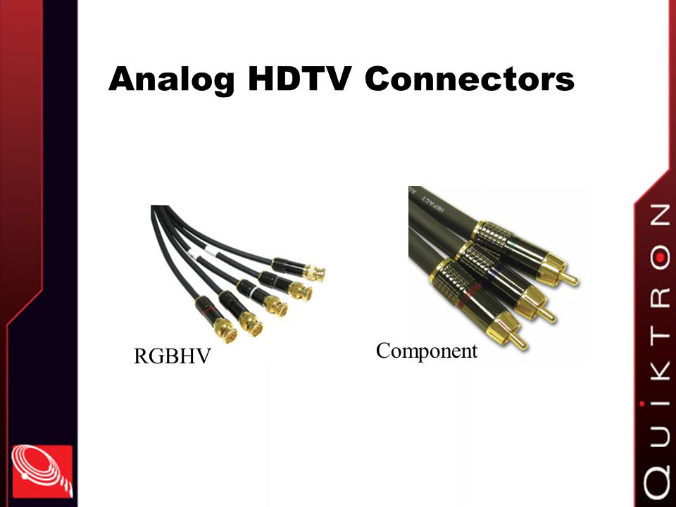 Analog HDTV Connectors