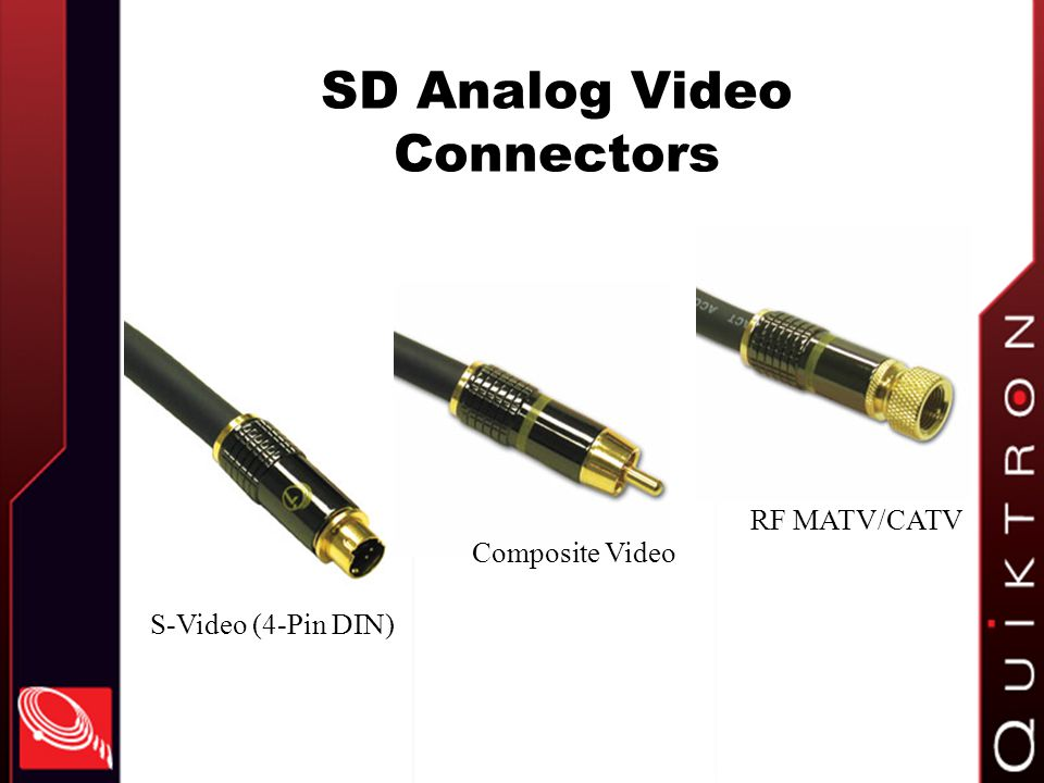 SD Analog Video Connectors