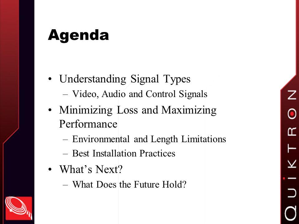 Agenda Understanding Signal Types