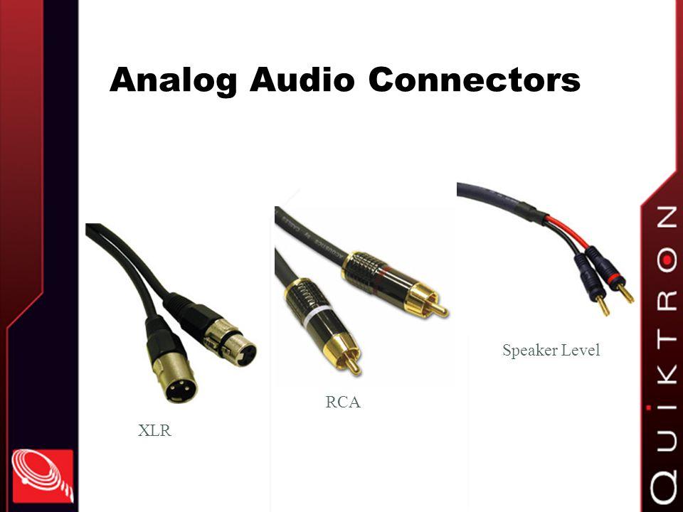 Analog Audio Connectors