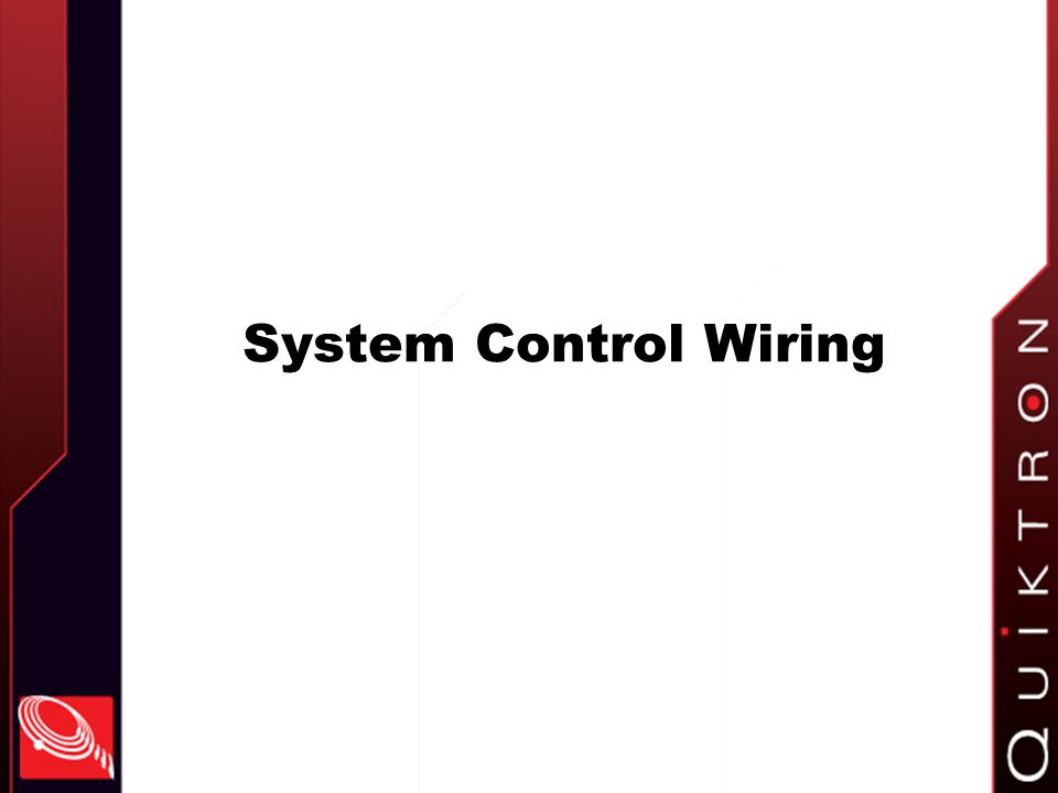 System Control Wiring