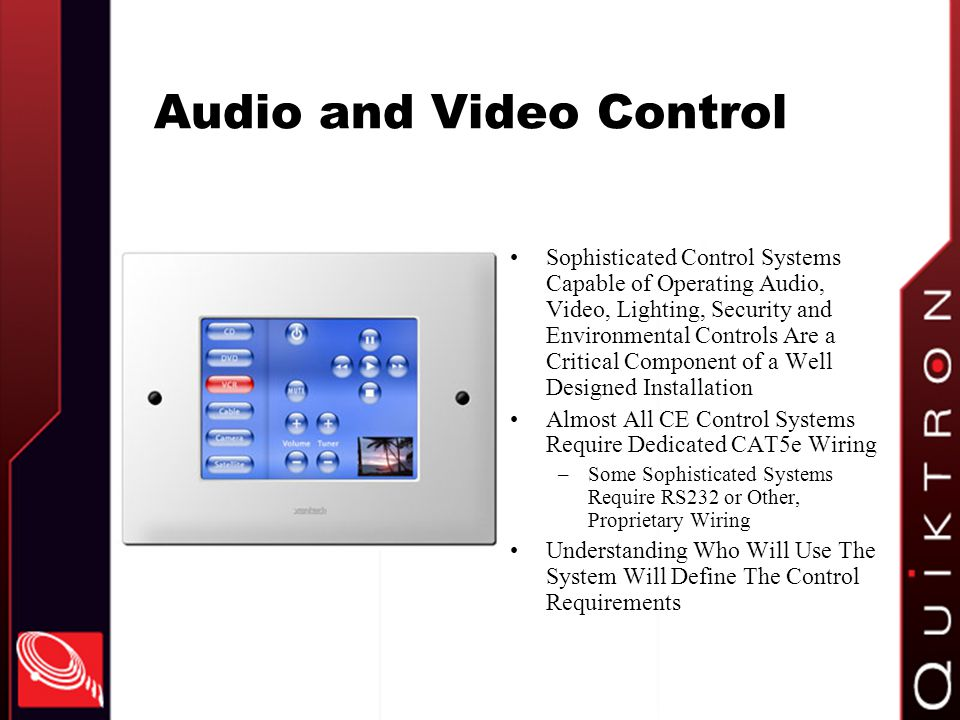 Audio and Video Control