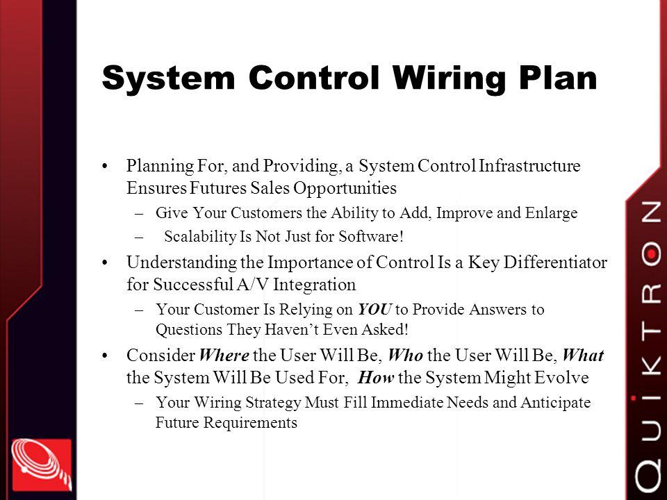 System Control Wiring Plan
