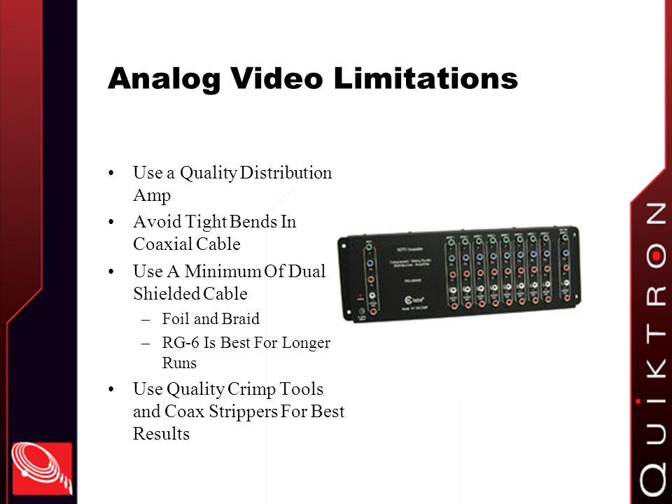 Analog Video Limitations