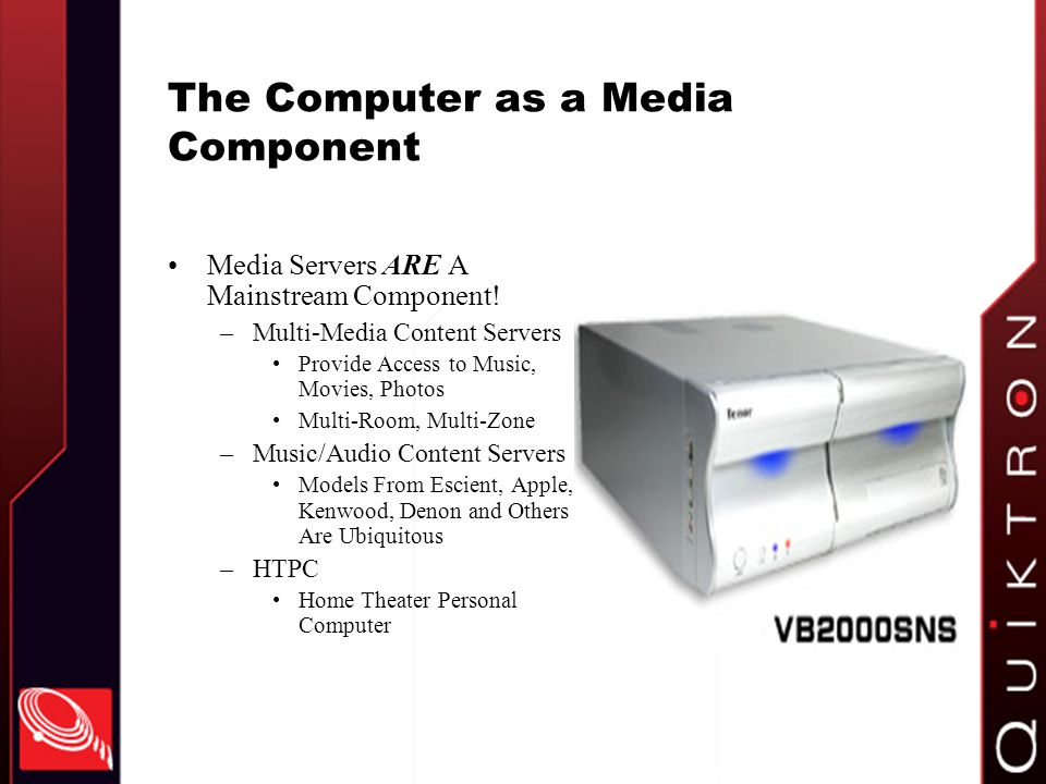 The Computer as a Media Component