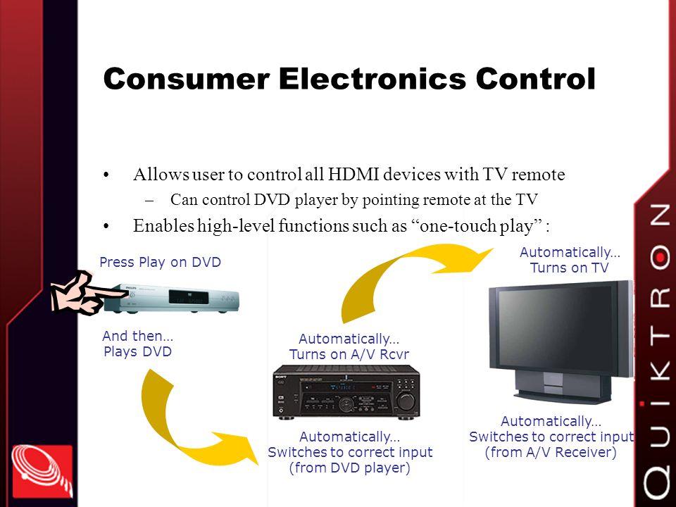 Consumer Electronics Control