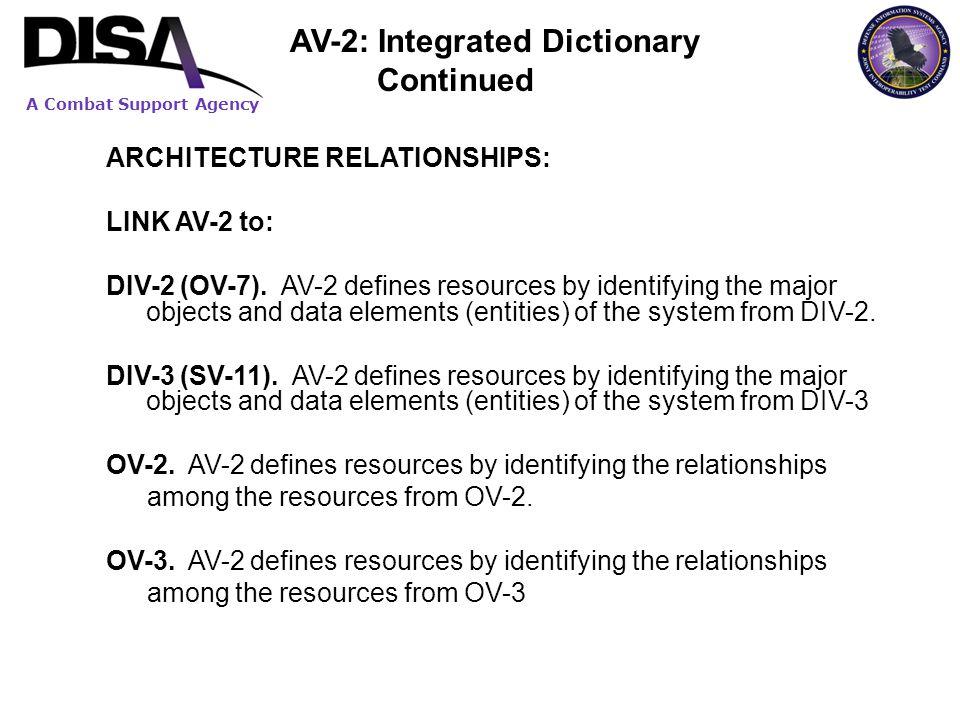 AV-2: Integrated Dictionary