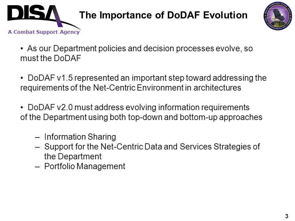 The Importance of DoDAF Evolution