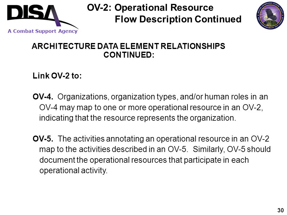 OV-2: Operational Resource Flow Description Continued