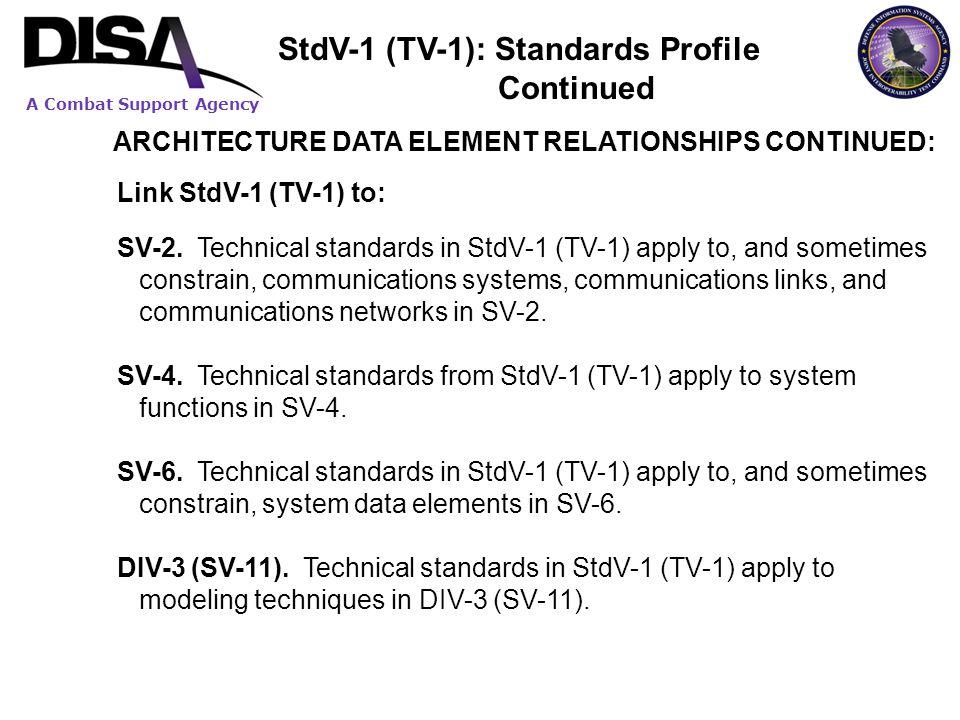 StdV-1 (TV-1): Standards Profile