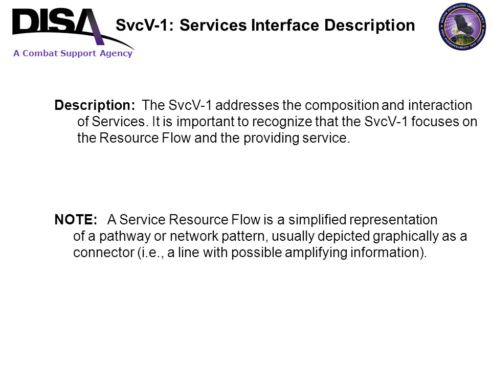 SvcV-1: Services Interface Description