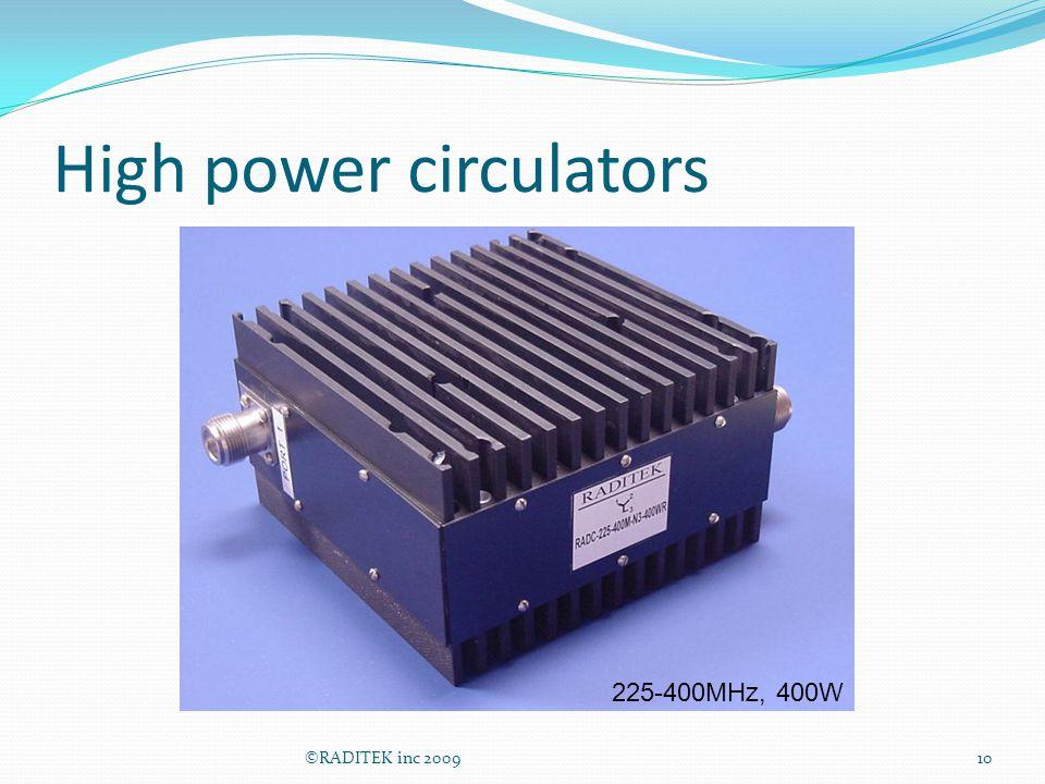 High power circulators