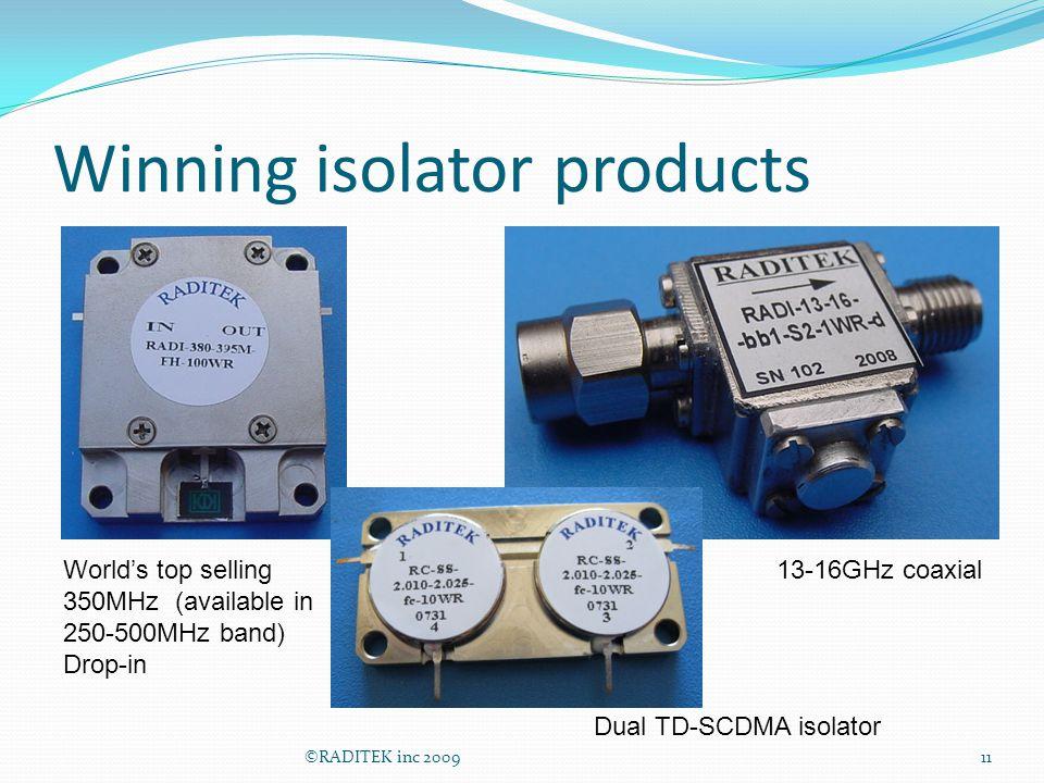Winning isolator products