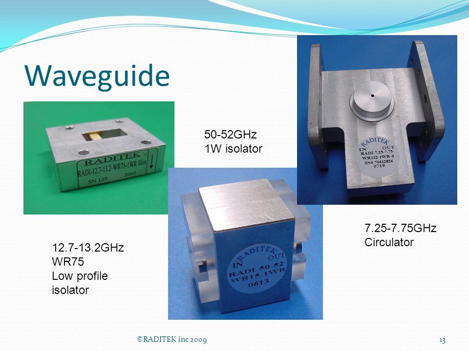 Waveguide 50-52GHz 1W isolator 7.25-7.75GHz Circulator 12.7-13.2GHz