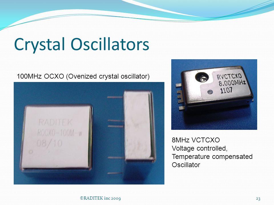 Crystal Oscillators 100MHz OCXO (Ovenized crystal oscillator)