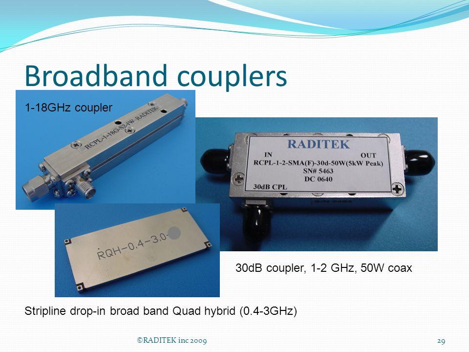 Broadband couplers 1-18GHz coupler 30dB coupler, 1-2 GHz, 50W coax