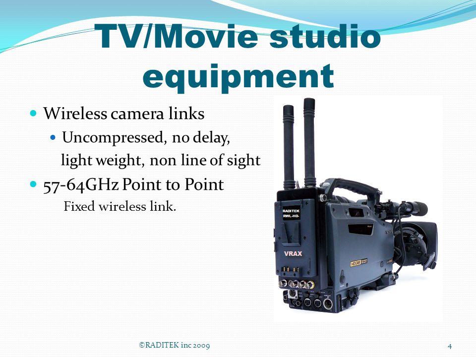 TV/Movie studio equipment