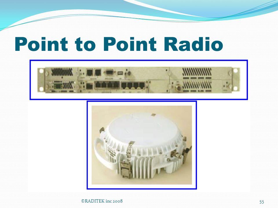 Point to Point Radio ©RADITEK inc 2008